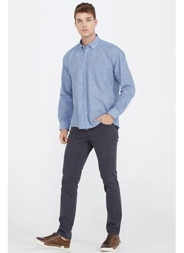 Sementa Pamuk Flamlı Erkek Gömlek - Mavi Mavi